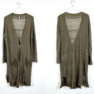 Free People Sweaters - SPRING SALE Free People Linen Blend Cardigan S
